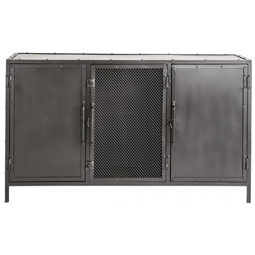 Rivet metal sideboard