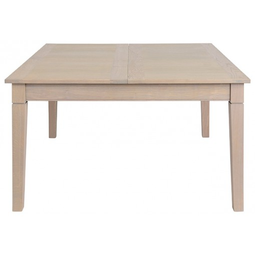 Table carrée en 140 + 1 allonge papillon de 75cm