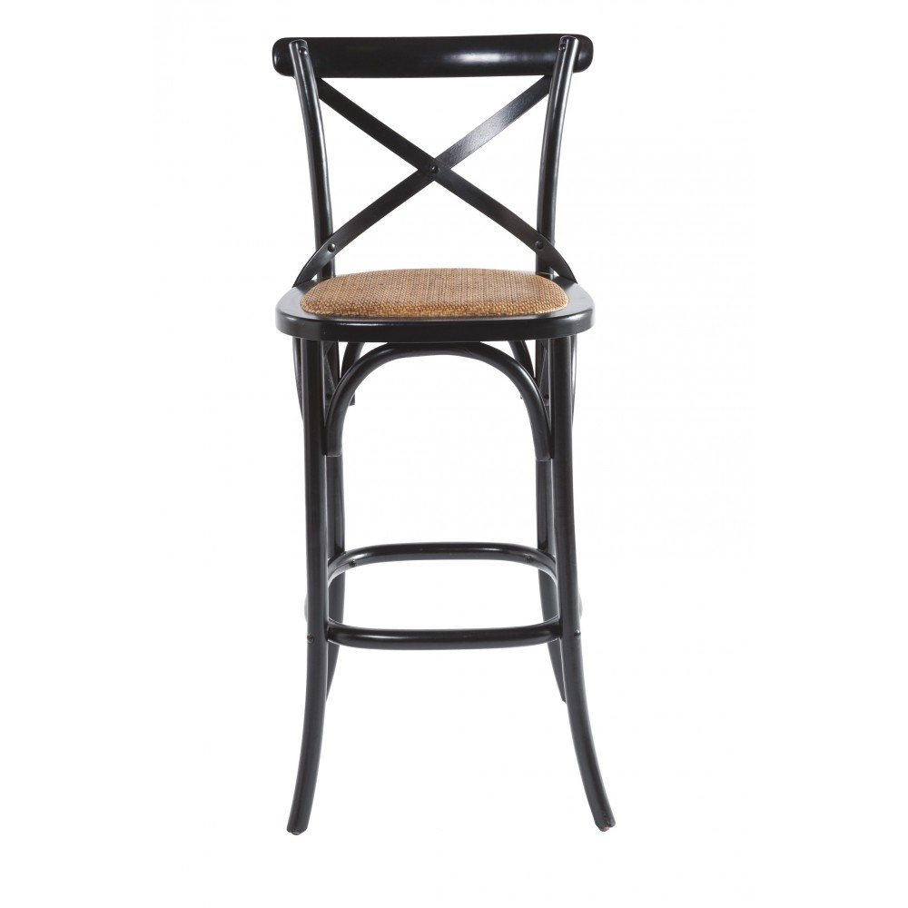 tabouret de bar bistrot noir signature. Black Bedroom Furniture Sets. Home Design Ideas