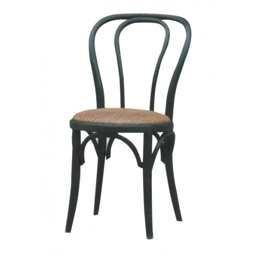 Chaise Troquet - Noir