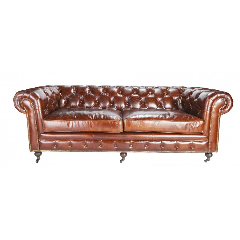 canape chesterfield signature With canapé chesterfield 2 places occasion