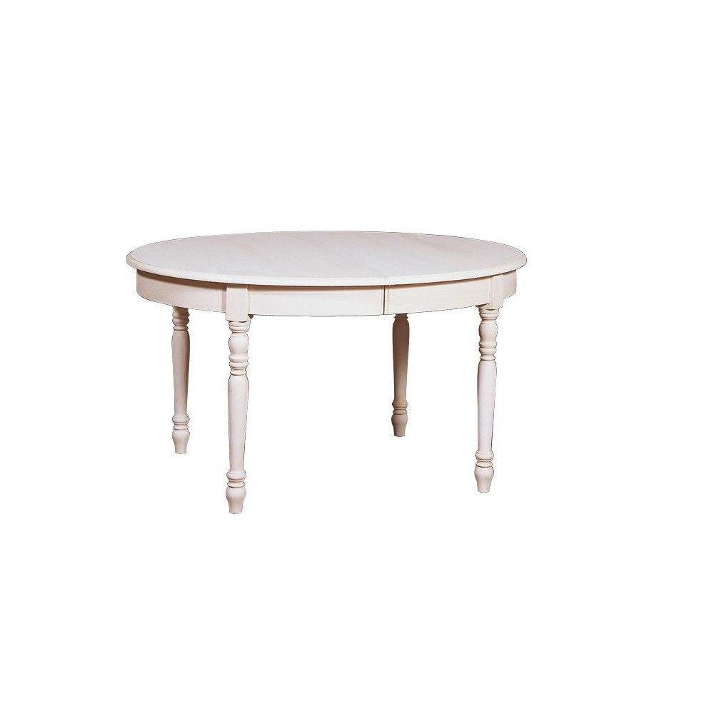 Table ovale bandeau 6 pieds et 4 allonges de 42 cm for Table ovale allonge