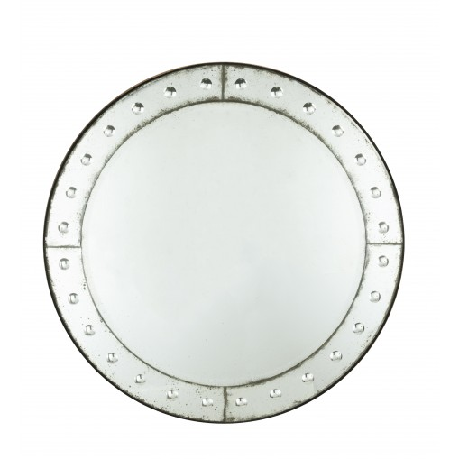 Round venetian mirror with bubbles