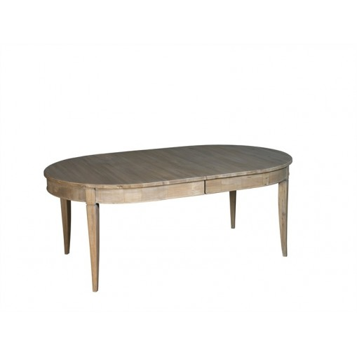 Ovale Table - 2 extensions 50 cm