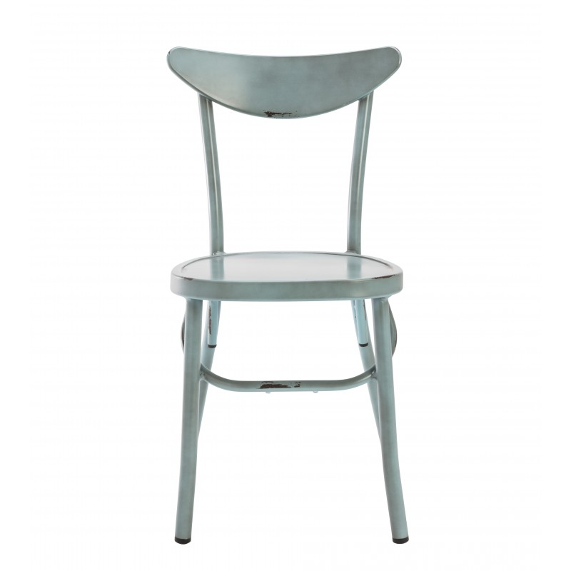 Marie Aluminium chair, blue distress finish
