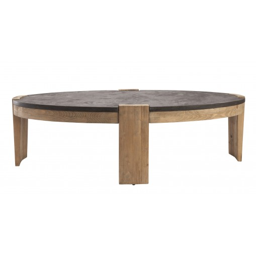 Table basse ovale - pierre bleue