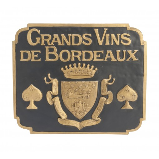 Grands vins de Bordeaux wall plaque