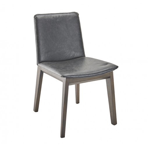 Art chair grey vinyl - set by 2pcs