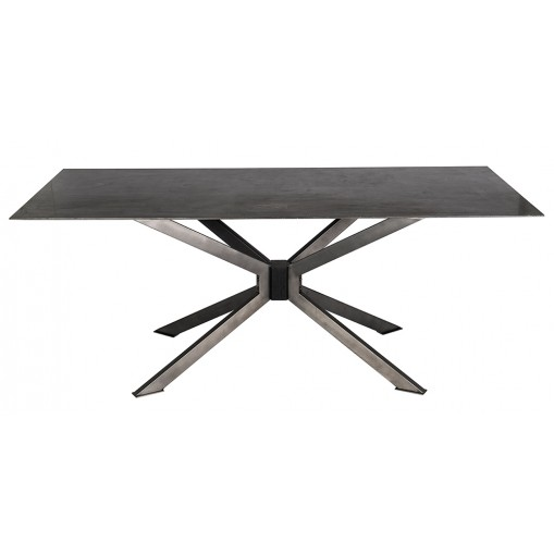 Spider table - bleu stone plate
